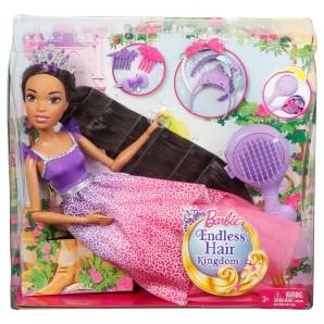 Zauberhaar-Prinzessin braune Haare,