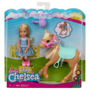 Chelsea und Pony mit Sattel und Zaumzeug
