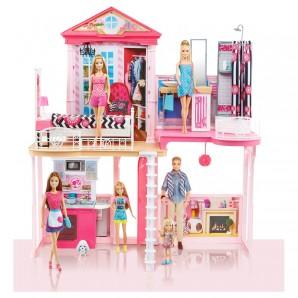 Barbie Haus mit Zubehör 110x92x15 cm