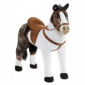 Pferd weiss/braun mit Sound Sattelhöhe 50 cm,