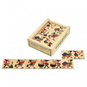 Zwergen Domino Holz
