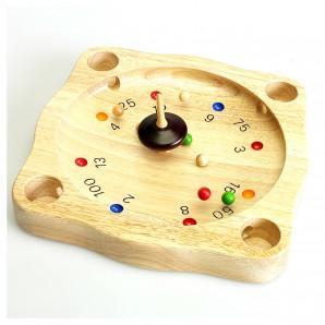 Roulette-Spiel mit Kreisel und Kugeln,