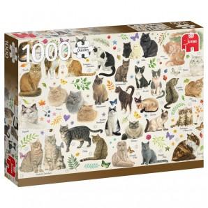 Puzzle Katzen Poster