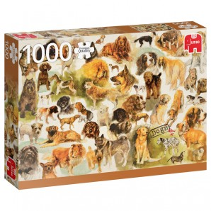 Puzzle Hunde Poster