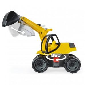 Bagger weiss/gelb 80x28x60 cm