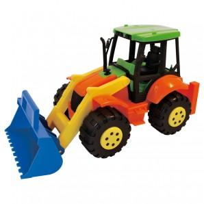 Traktor mit Baggerschaufel L: 42 cm,