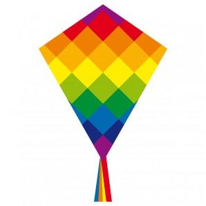 Drachen Ecoline Eddy Rainbow 58x70 cm,