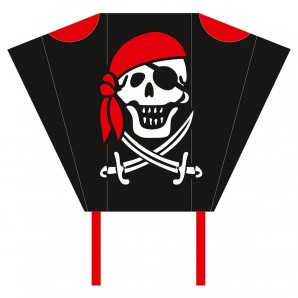 Drachen Pocket Sled Jolly Roger,