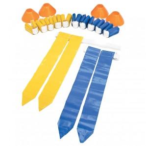 10-Mann Flagge Farben: gelb,