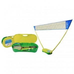 Badminton Set im Koffer inkl. 2 Schläger,