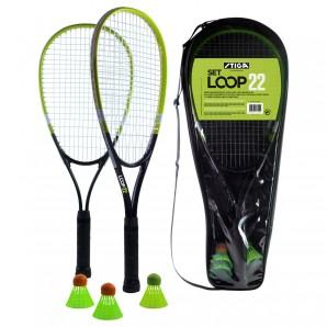 Speed Badminton Loop 22 2 Schläger 57 cm,