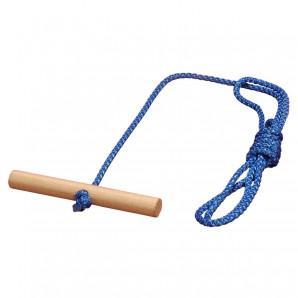 Ziehleine für Schlitten mit Holzgriff,