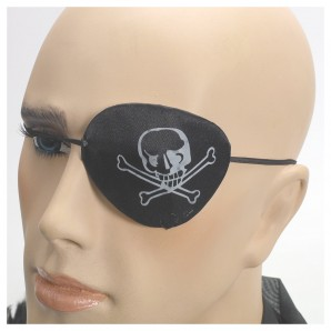 Augenklappe mit Aufdruck Stoff,