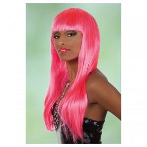 Perücke Bobline lang, pink