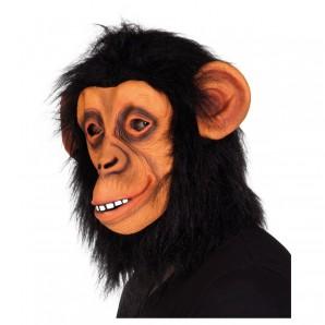Maske Affe mit Fell