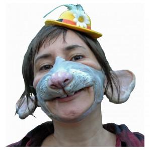 Halbmaske Maus Prinzessin