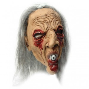 Maske Dämon mit Kunsthaar