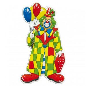 Dekomaske Clown Luftballon 58x24 cm,