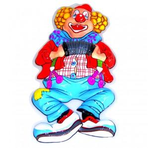 Dekomaske Clown Handorgel 50x25 cm,