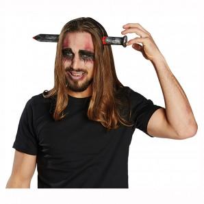Haarreif Nagel im Kopf sieht aus wie echt