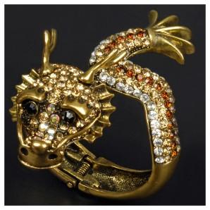 Armspange Drachen, gold