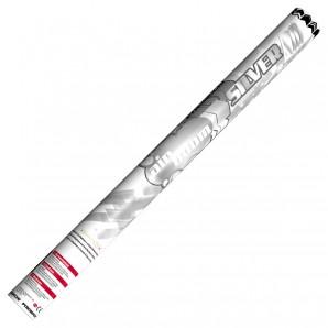 Konfetti-Luftkanone silber mit silbrigen Maxi-Konfetti