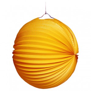 Lampion rund, orange, 25cm schwer entflammbar,