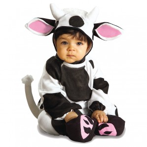 Cozy Cow, 6-12 Monate Strampler mit Kopfbedeckung