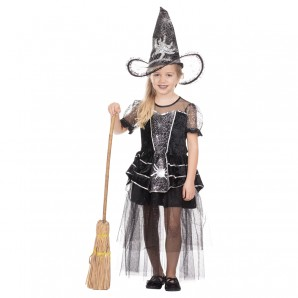 Hexe Little Spidy Gr.140 1-teiliges Kleid