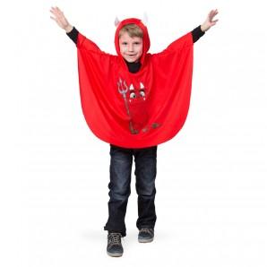 Teufelscape rot mit Kapuze 1-teilig