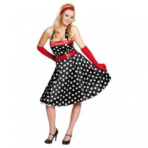 Kleid 50-er schwarz Gr.40 2-teilig