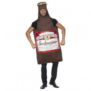 Kostüm Bierflasche, one size 1-teilig,