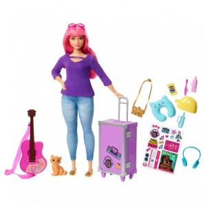 Barbie Travel Puppe (pink)