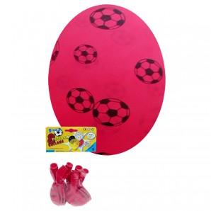 Ballon Fussball rot 8 Stück