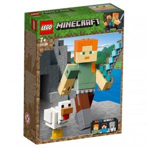 Alex Minecraft BigFig mit Huhn