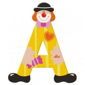 Buchstabe Clown A Holz