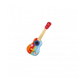 Gitarre bunt mit Tiermotiven 17x53x6 cm
