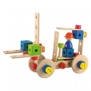 Bau-Set Feuerwehrauto Holz
