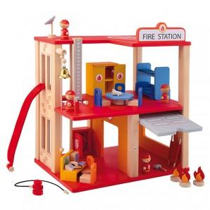 Feuerwehrwache Holz 31-teilig