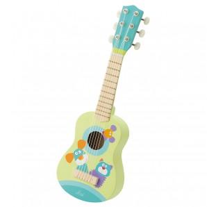 Gitarre grün-bunt 17x53x6 cm