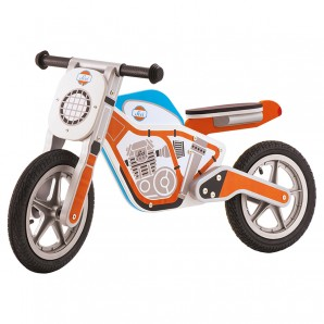 Laufrad Motobike orange Holz