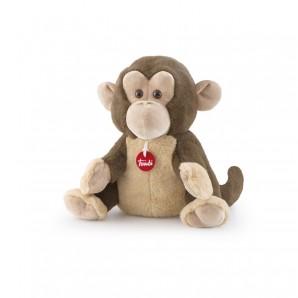 Handpuppe Affe zum Wärmen mit Dinkelspreu gefüllt