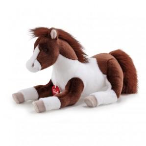 Pferd braun-weiss 42 cm Plüsch