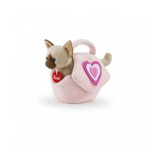 Katze in Tasche mit Herz Plüsch