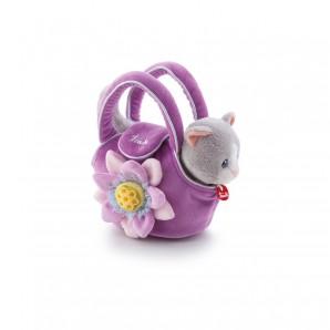 Katze in Tasche mit Blume Plüsch