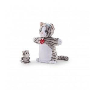 Handpuppe & Baby Katze Plüsch
