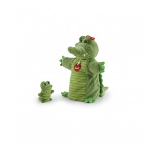 Handpuppe & Baby Krokodil Plüsch