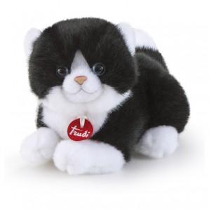 Katze weiss-schwarz Trudini Plüsch