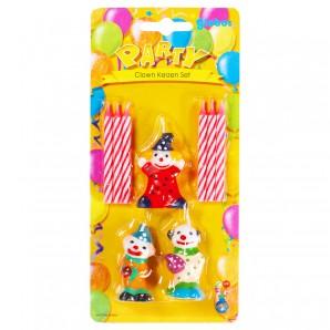 Clown Kerzen Set