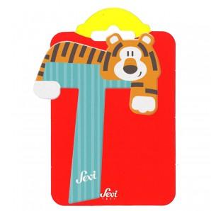 Holzbuchstabe T Tiger